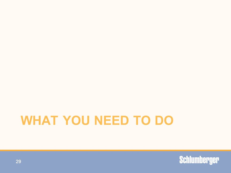 WHAT YOU NEED TO DO 29