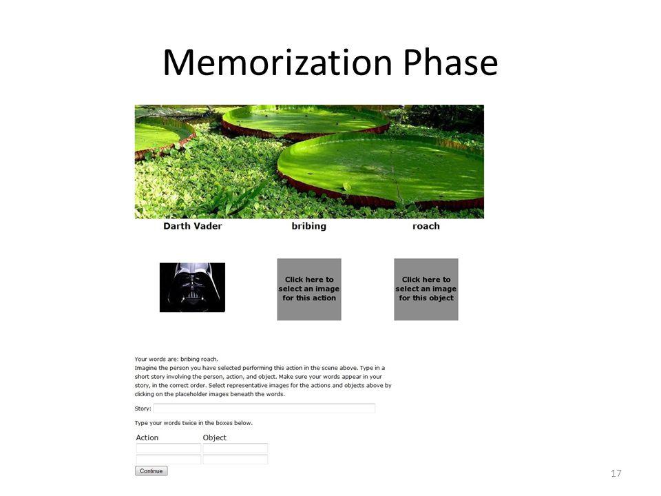 Memorization Phase 17