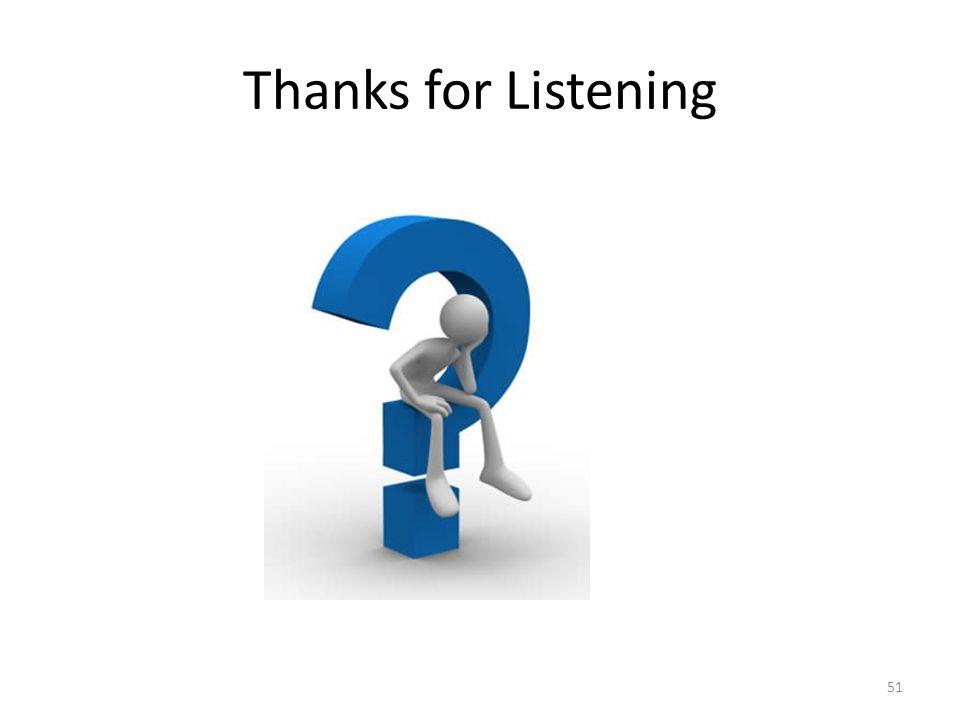 Thanks for Listening 51