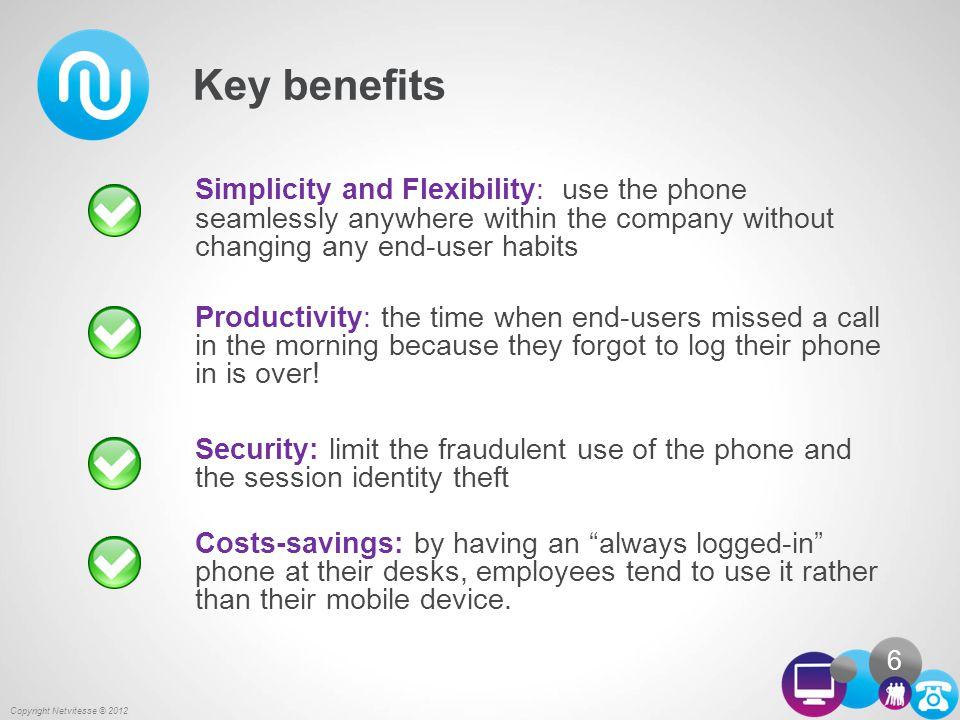 Summary Copyright Netvitesse © 2012 7 Typical use cases Brief description Key benefits Main compatibilities Usage scenarios 1 2 3 4 5 References 6
