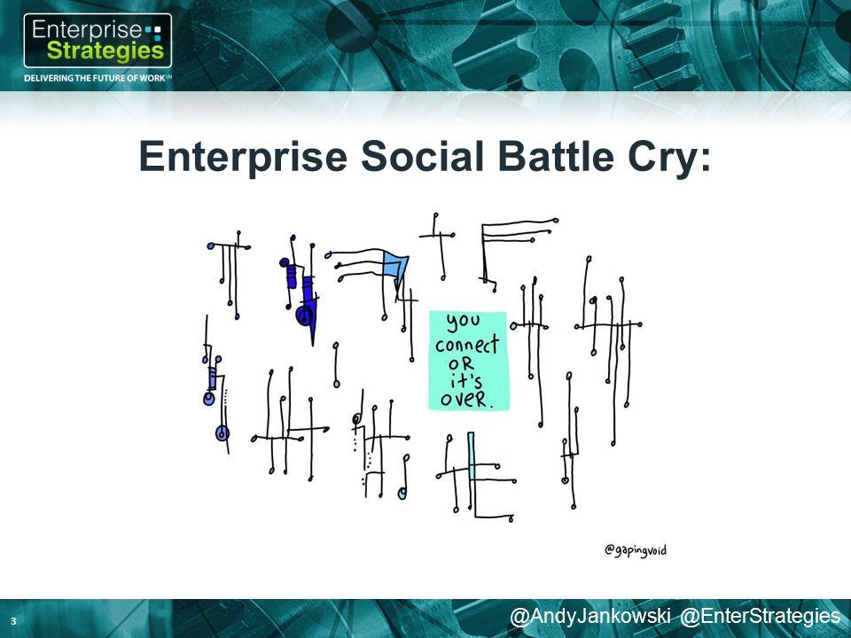 @AndyJankowski @EnterStrategies Enterprise Social Battle Cry: 3