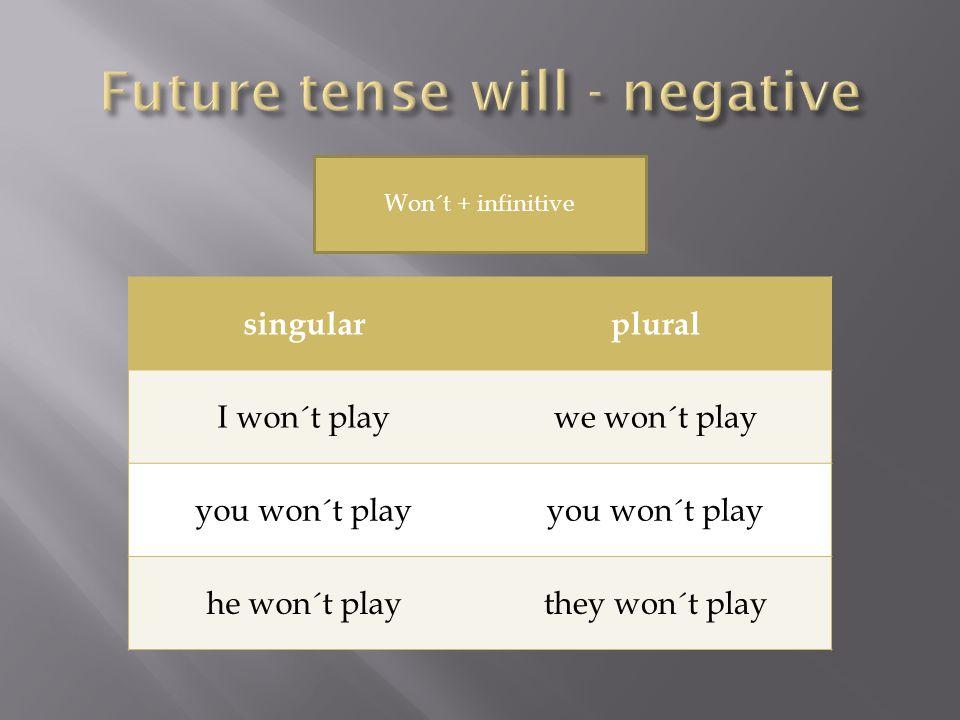 singularplural Shall I play?Shall we play.Will you play.
