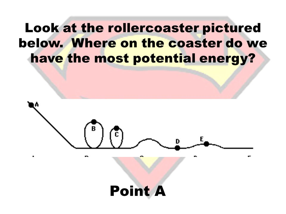 Arrange the points in the picture below from most kinetic to least kinetic: D, E, C, F, B, G, A