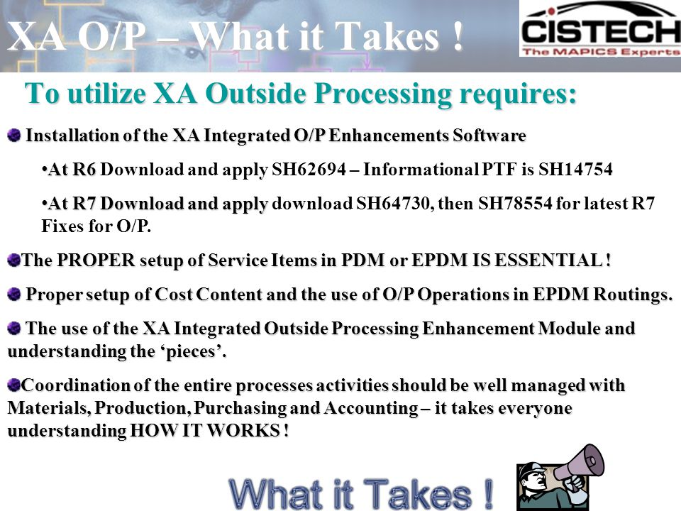 O/P Setup – The O/P Detail Another great feature, and an important part of the O/P Operation Detail setup, is the Auto Release Code.