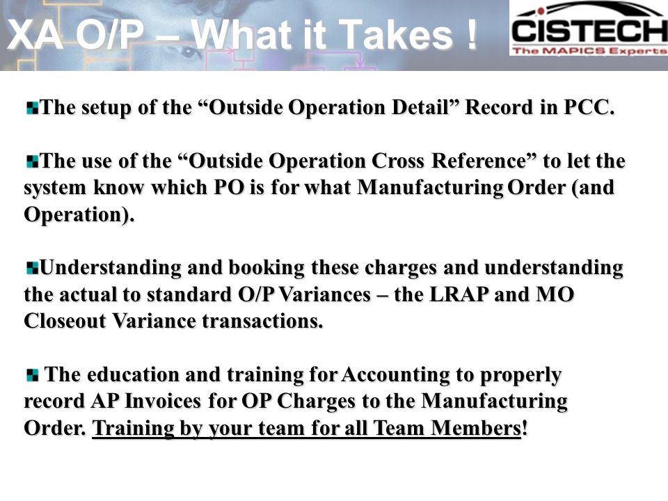 Integrate O/P Objects – R6 Quick Win