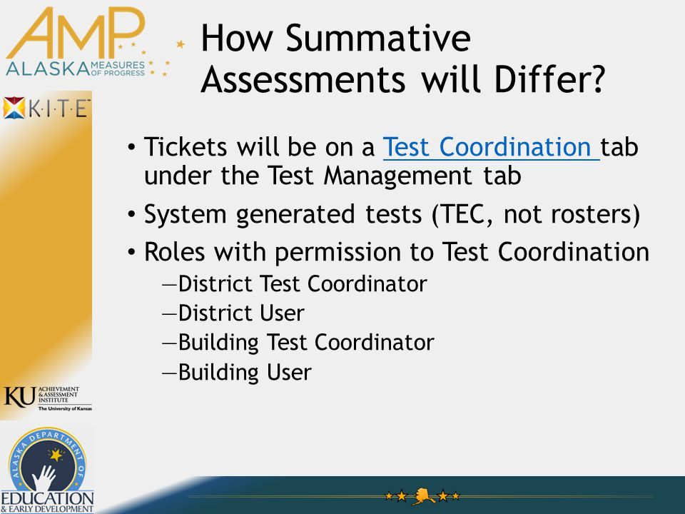 How Summative Assessments will Differ.