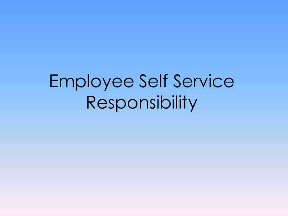 Employee Self Service Responsibility