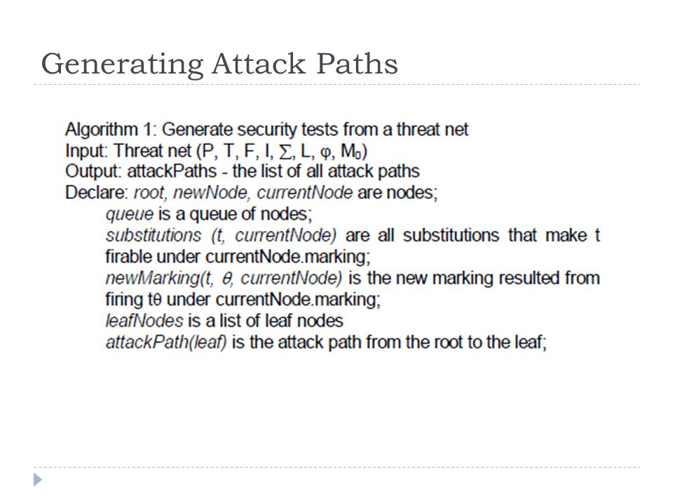 Generating Attack Paths