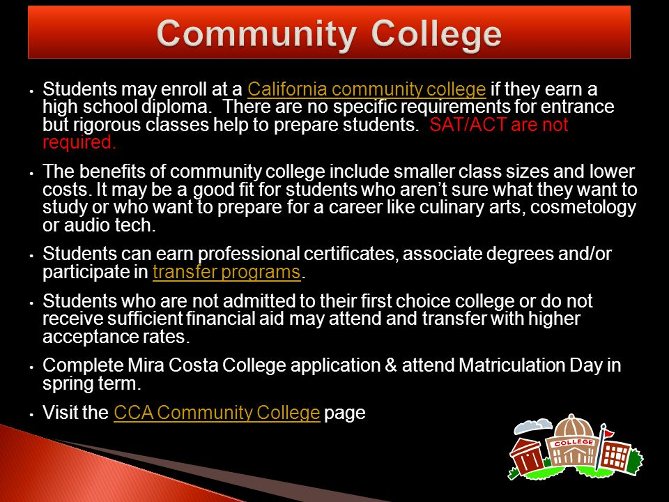 Data indicates the averages of CCA accepted applicants.
