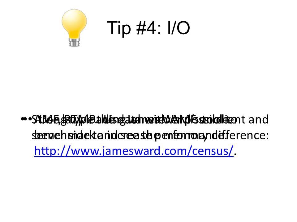 Tip #4: I/O AMF, RTMP.