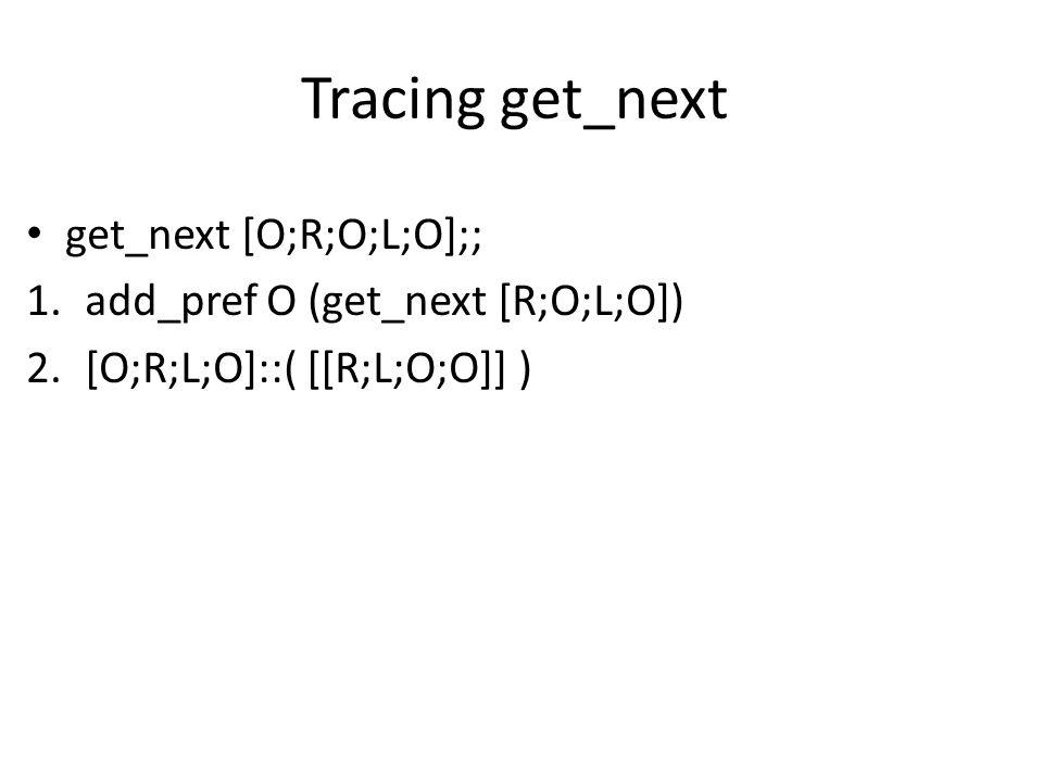 Tracing get_next get_next [O;R;O;L;O];; 1.add_pref O (get_next [R;O;L;O]) 2.[O;R;L;O]::( [[R;L;O;O]] )