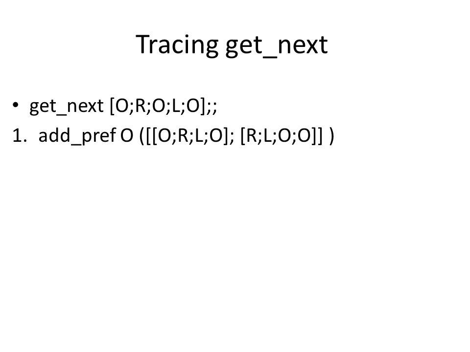 Tracing get_next get_next [O;R;O;L;O];; 1.add_pref O ([[O;R;L;O]; [R;L;O;O]] )