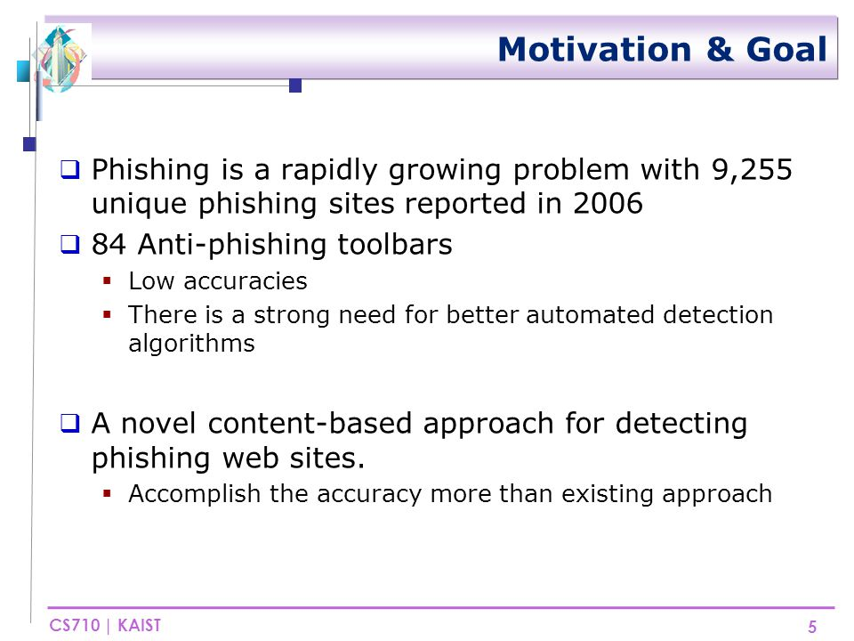 CS710 | KAIST Related work(1/3)  Anti-Phishing has four categories  Why People Fall for Phishing Attacks.