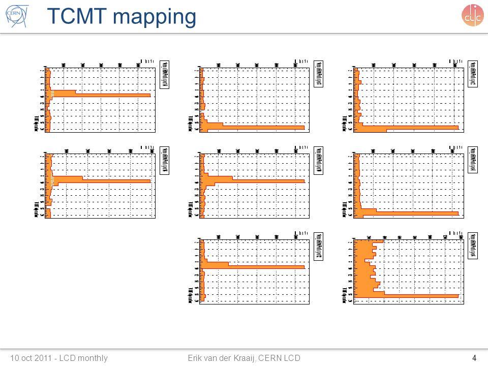 TCMT mapping 10 oct 2011 - LCD monthly Erik van der Kraaij, CERN LCD4