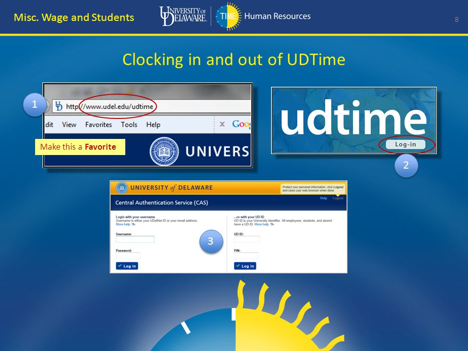 Clocking IN to UDTime 9 Misc.