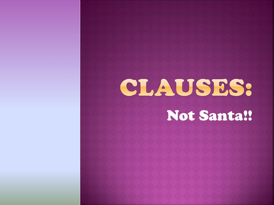 Not Santa!!