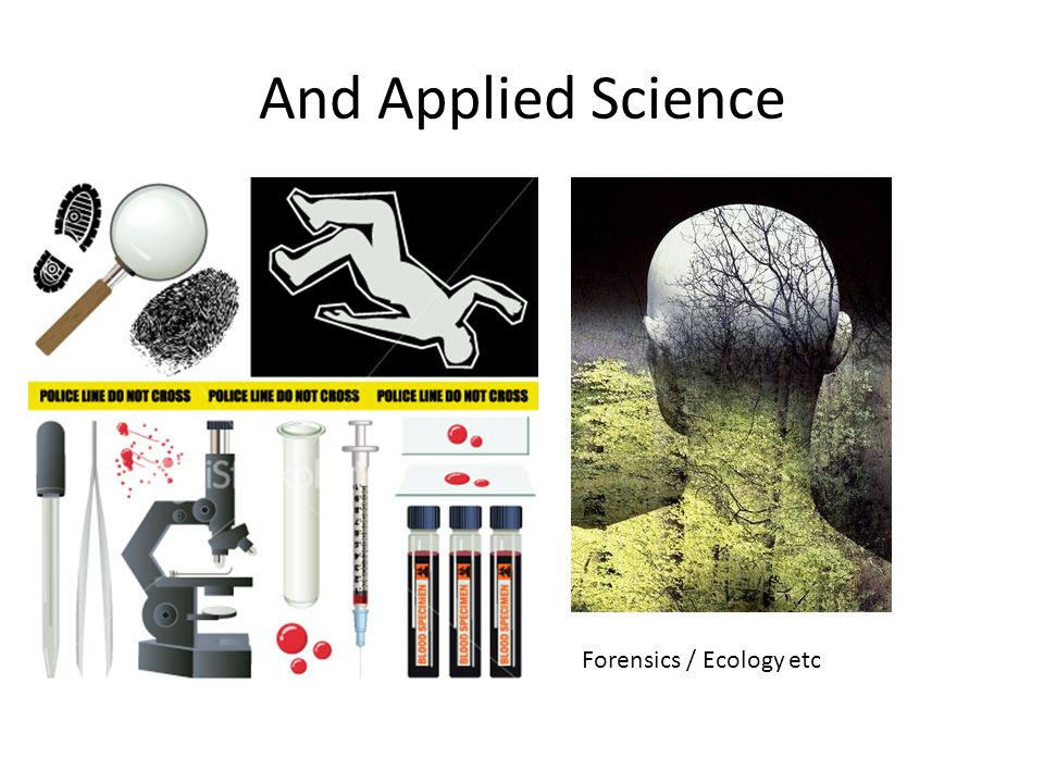 And Applied Science Forensics / Ecology etc