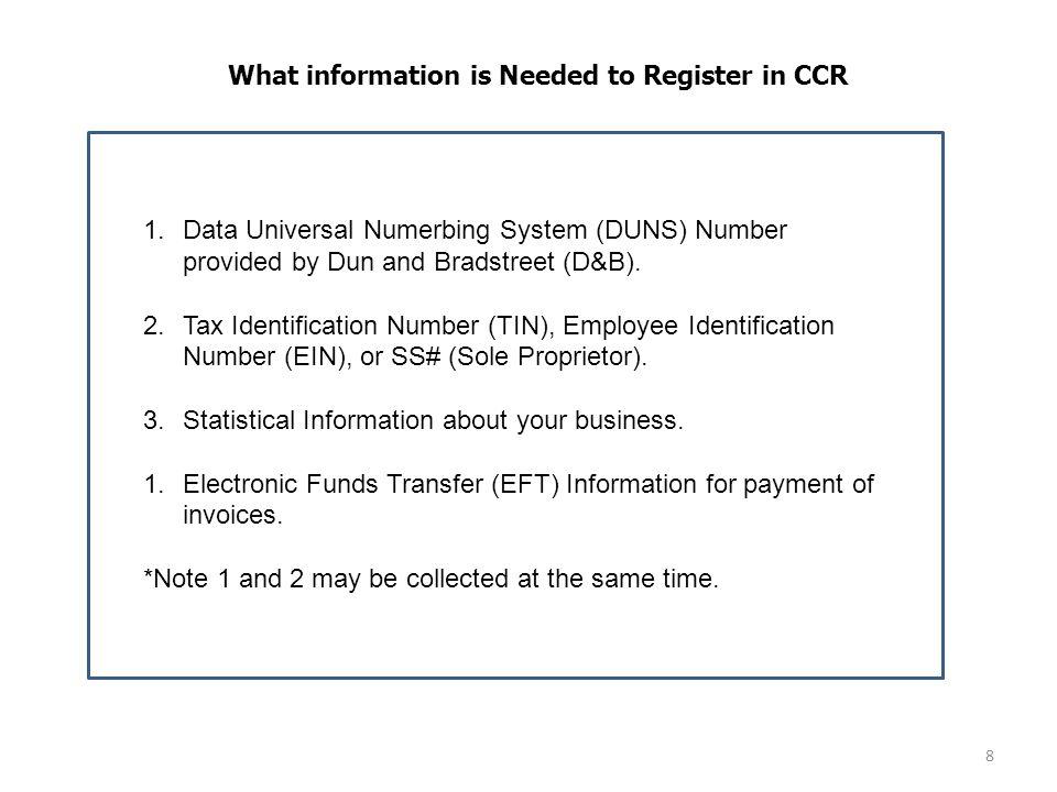 9 CCR Help