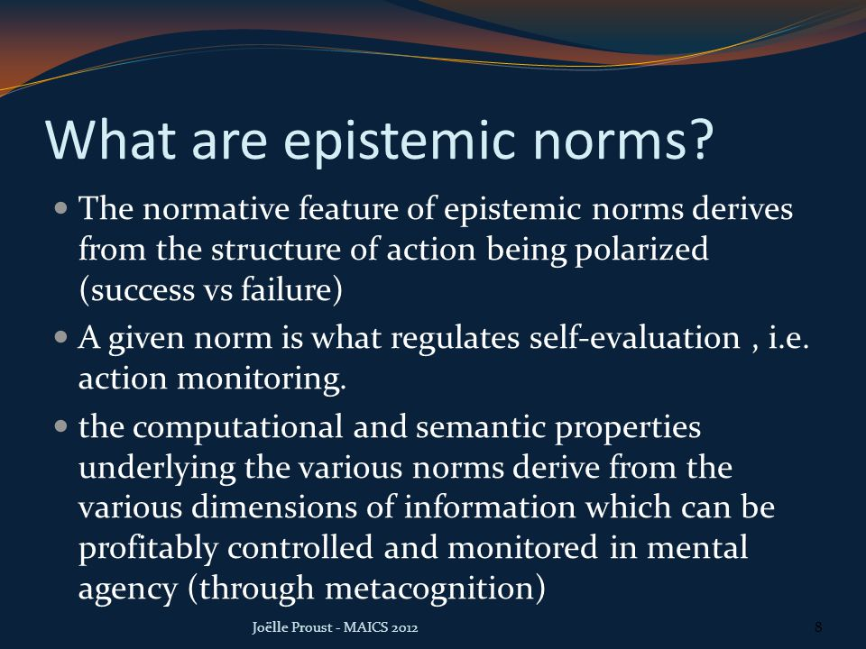 What are epistemic norms.