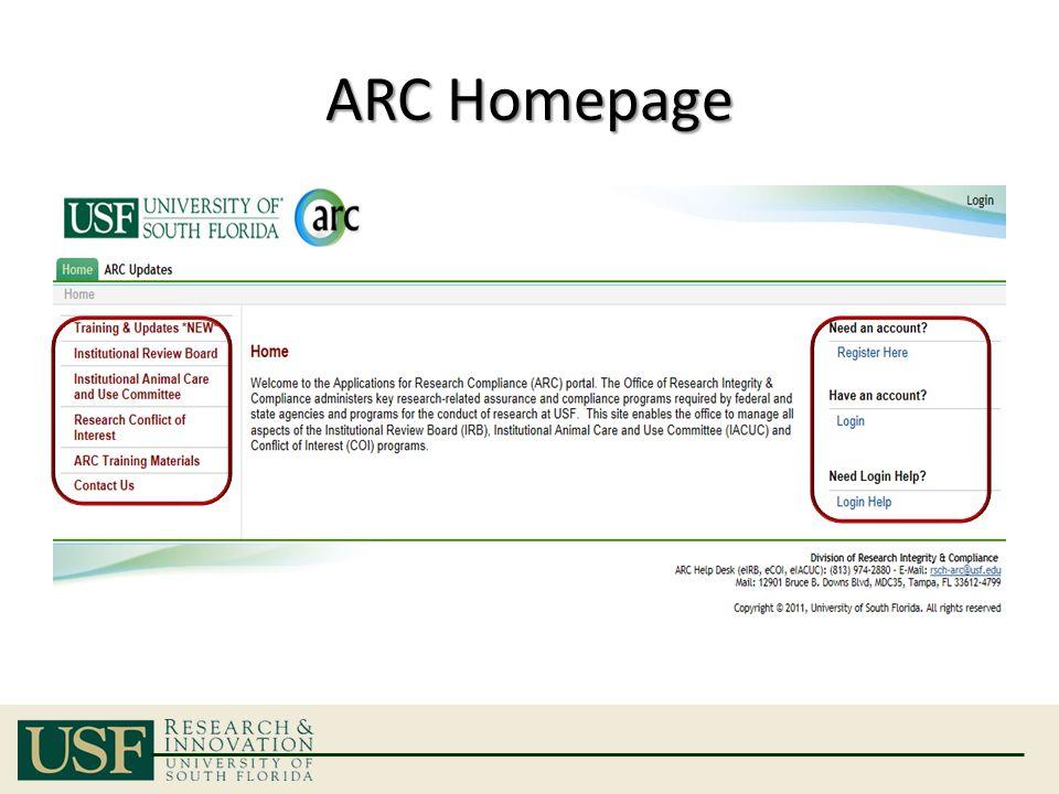 ARC Homepage