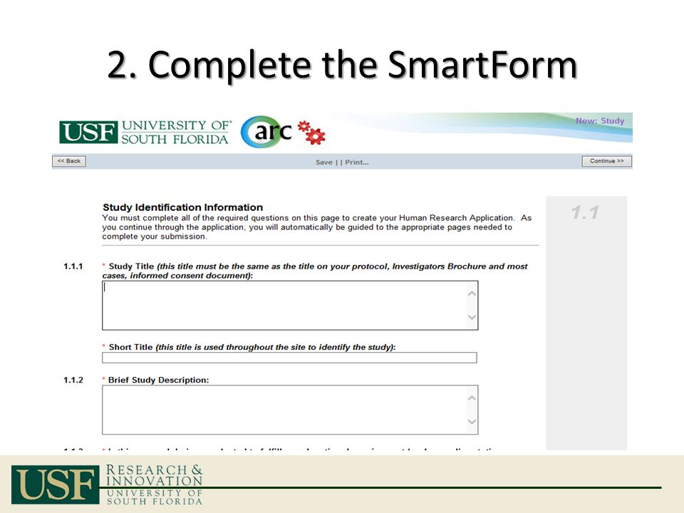2. Complete the SmartForm