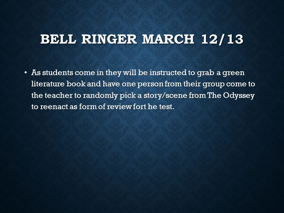 BELL RINGER- MARCH 10/11 As small groups, students will come up with answers/discussion for the following questions: As small groups, students will co