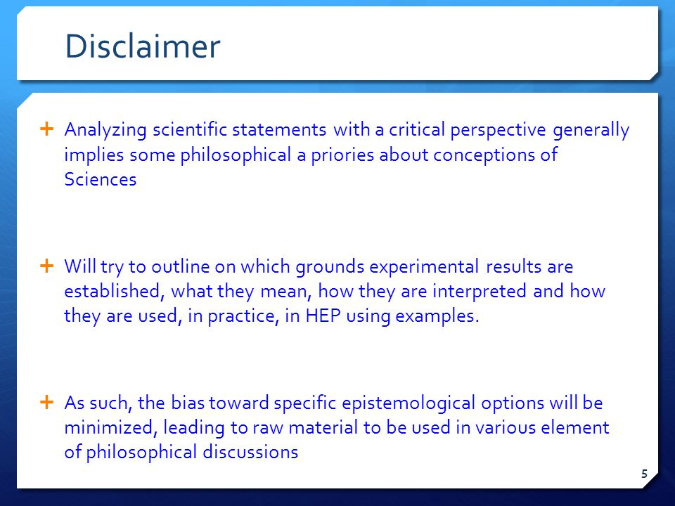 Other topics  These conclusions have been brought in the context of the questions raised in slide 6.