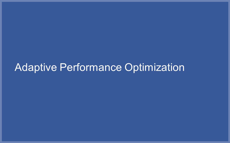 Adaptive Performance Optimization
