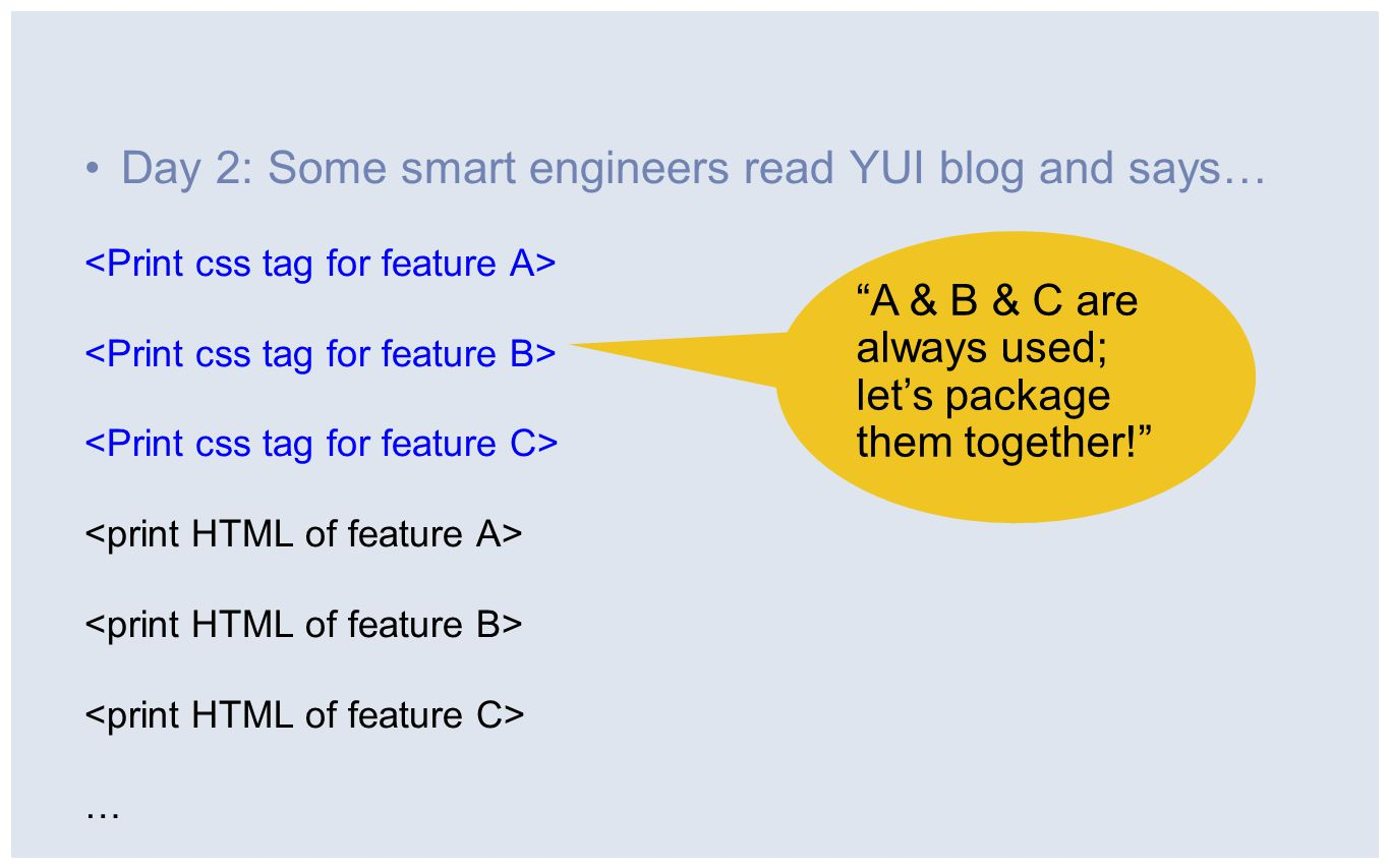 """Day 2: Some smart engineers read YUI blog and says… … """"A & B & C are always used; let's package them together!"""""""