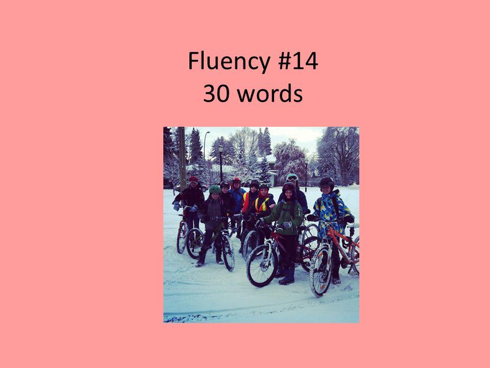 Fluency #14 30 words