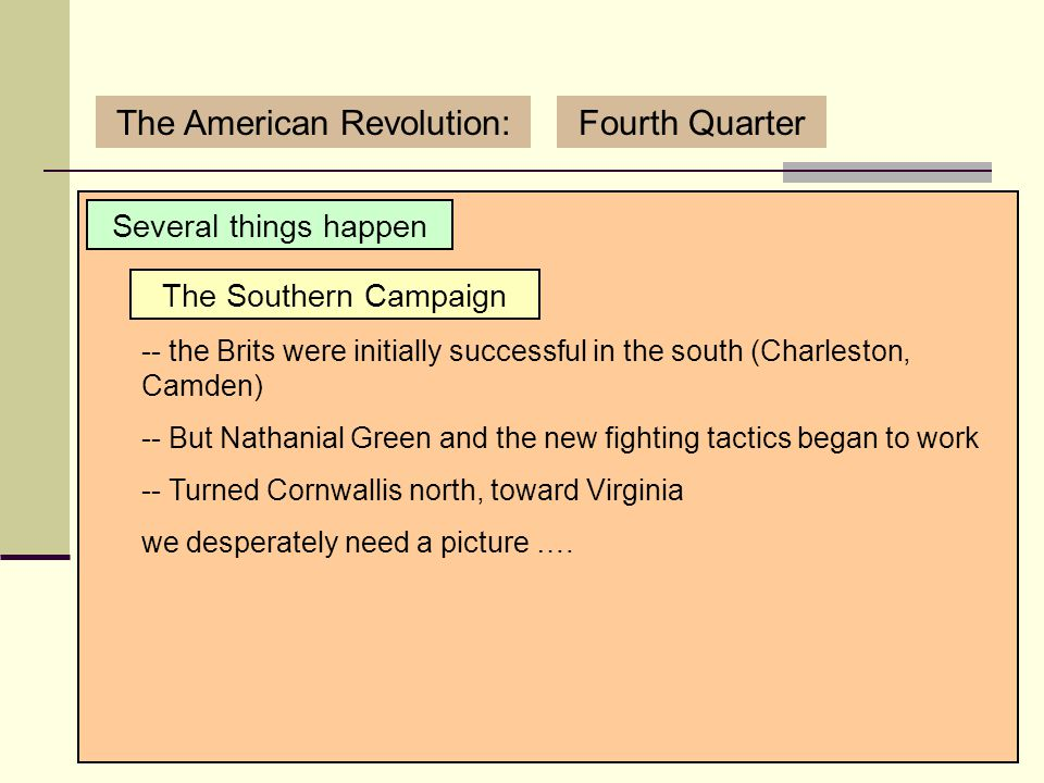 3/12/2007 (C) Copyright Sean Wilson. 2007.29 The American Revolution:Fourth Quarter Several things happen Benedict Arnold -- Arnold traded sides and l