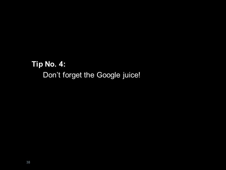 #boltonunirandi14 Tip No. 5: Don't Forget the Google Juice.