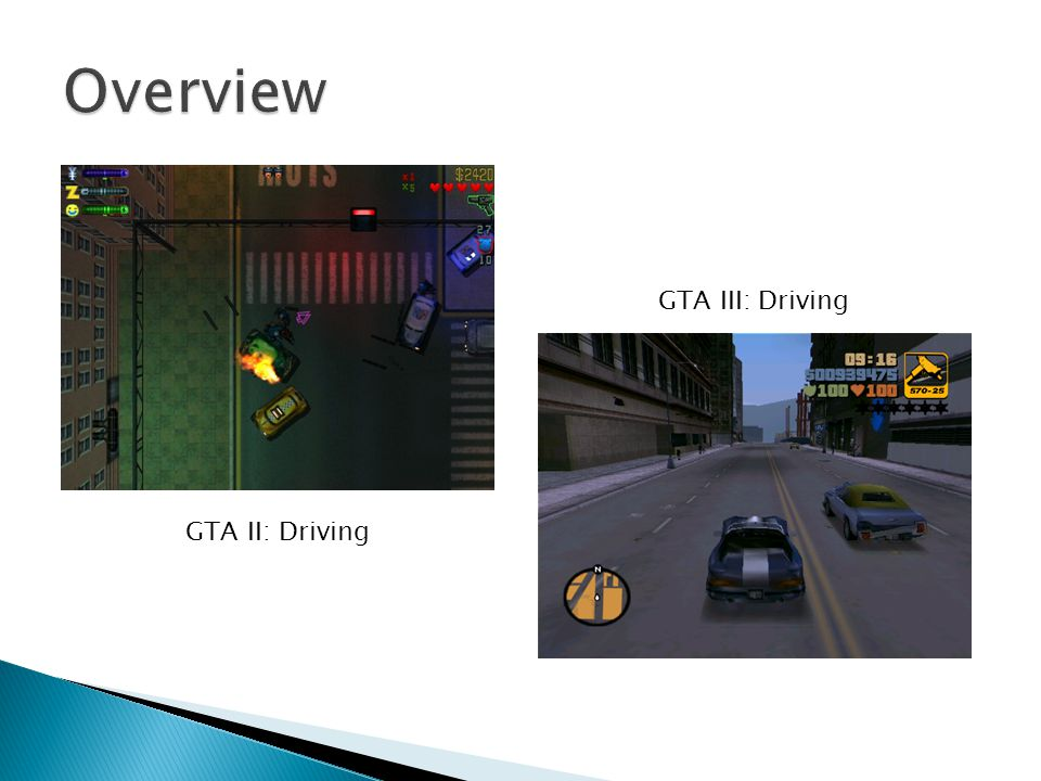 GTA II: Driving GTA III: Driving