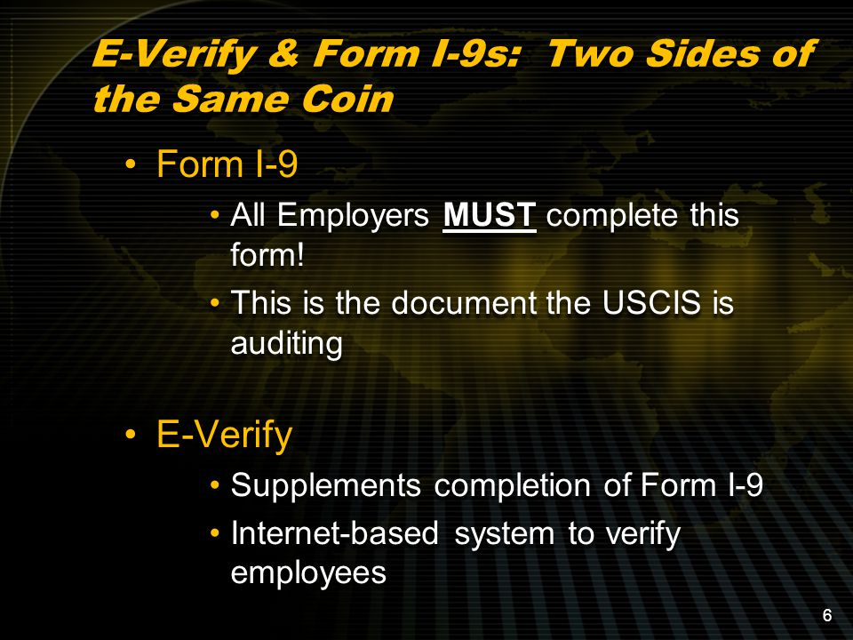Form I-9 All Employers MUST complete this form.