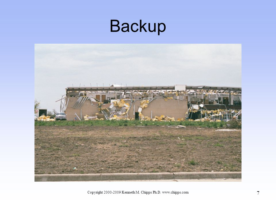 Backup Copyright 2000-2009 Kenneth M. Chipps Ph.D. www.chipps.com 7