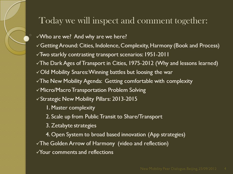 Today we will inspect and comment together: Who are we.