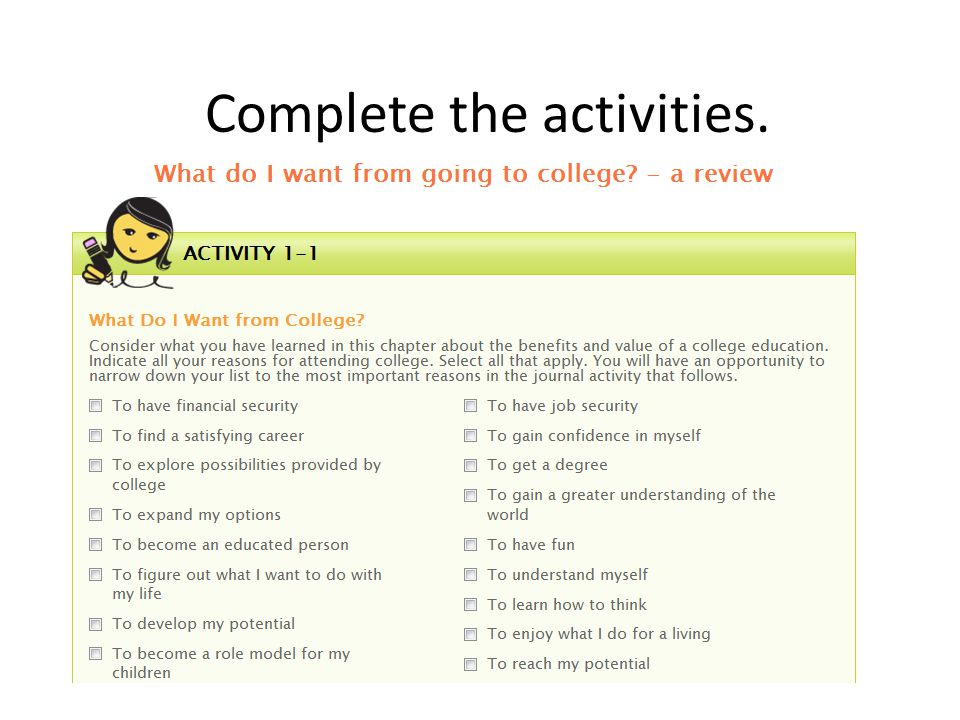 Complete the activities.