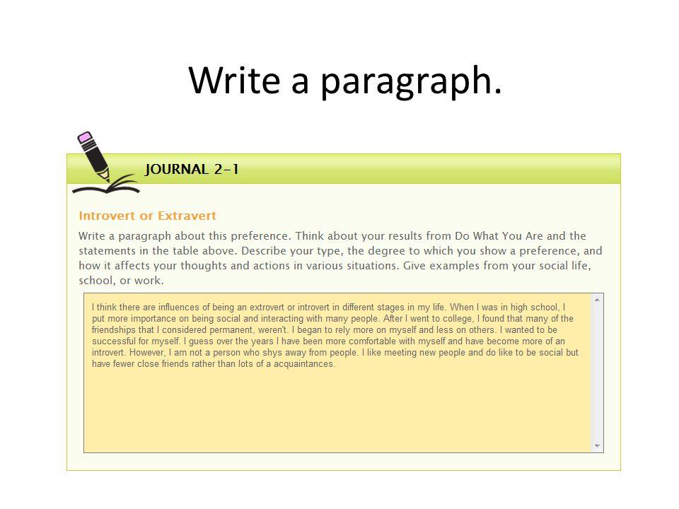 Write a paragraph.
