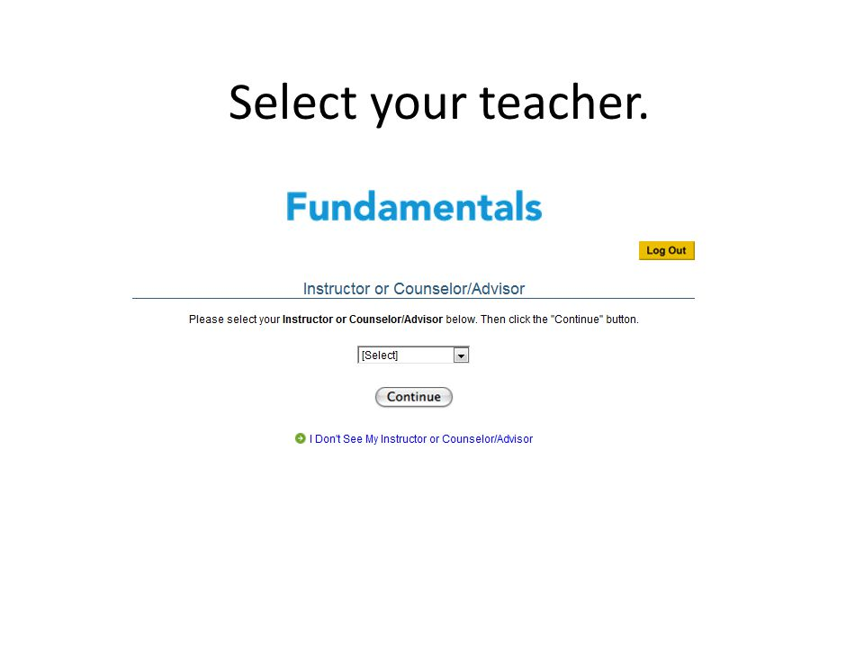 To get started, click on Start Fundamentals.