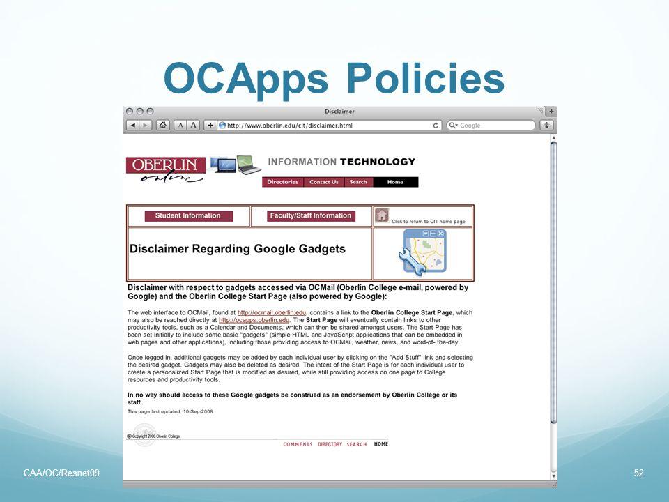 OCApps Policies CAA/OC/Resnet0952