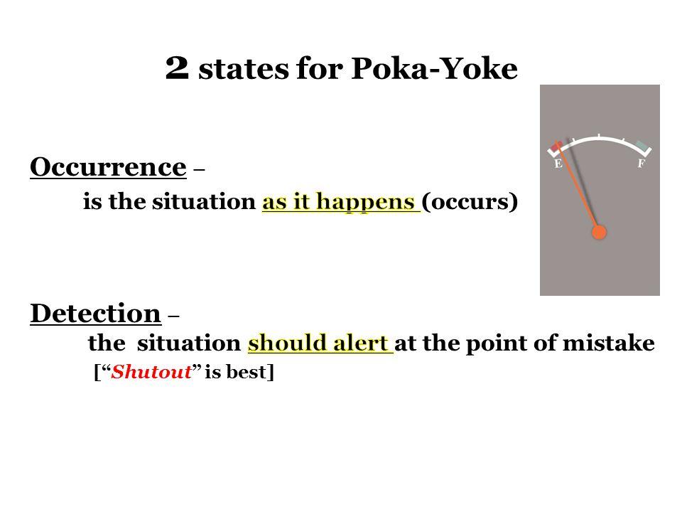 2 states for Poka-Yoke