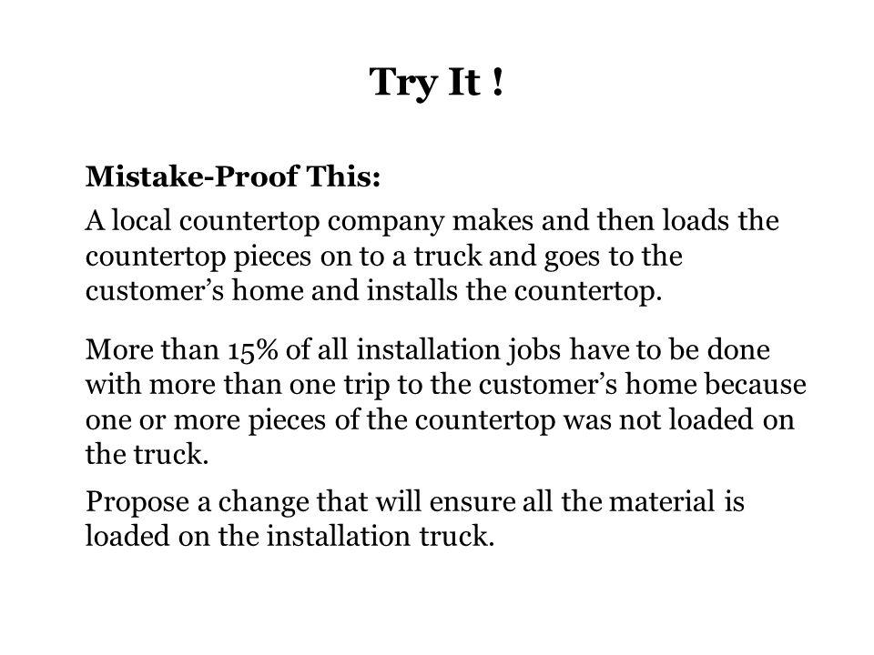 Try It .