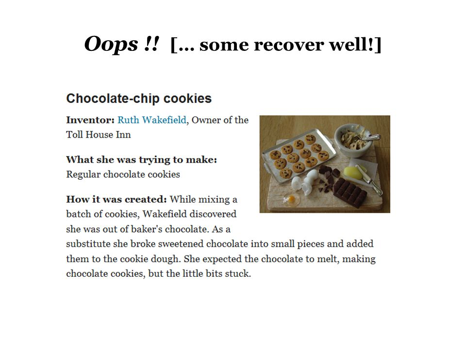 Oops !! [… some recover well!]