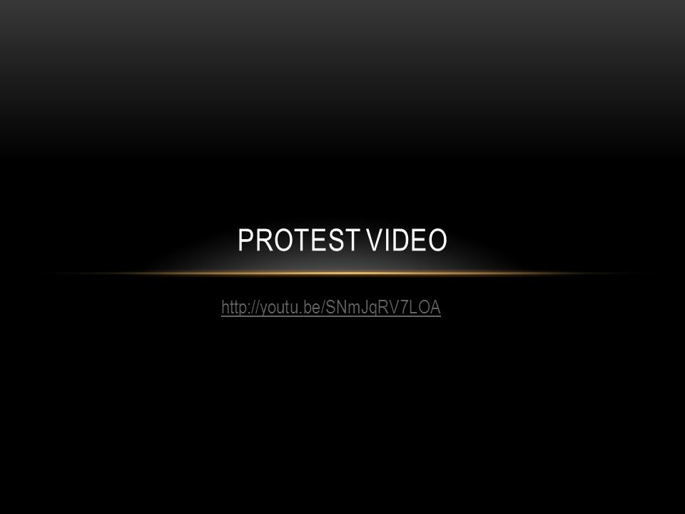 http://youtu.be/SNmJqRV7LOA PROTEST VIDEO