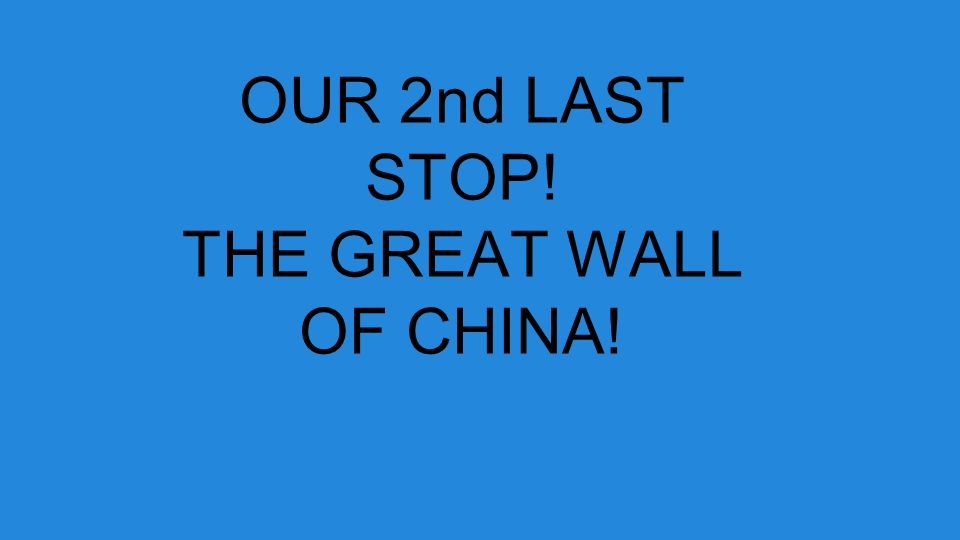 OUR 2nd LAST STOP! THE GREAT WALL OF CHINA!
