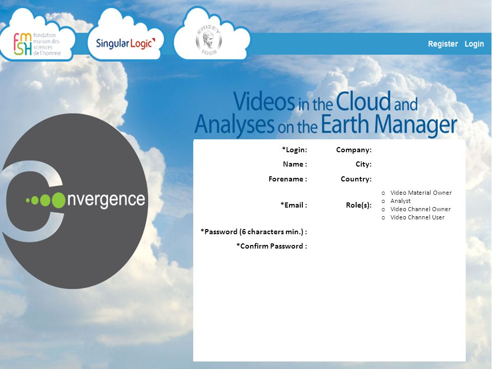 FMSH-ESCoM Videos in the Cloud & Analyses on the Earth Manager HomeMy SelectionsMy SubscriptionsMy Publications My Channels SubscribePublishMy ProfileDisconnect Notifications: 18 WELCOME My Latest Publications My Latest Selections My Latest SubscriptionsLatest Notifications My Channels