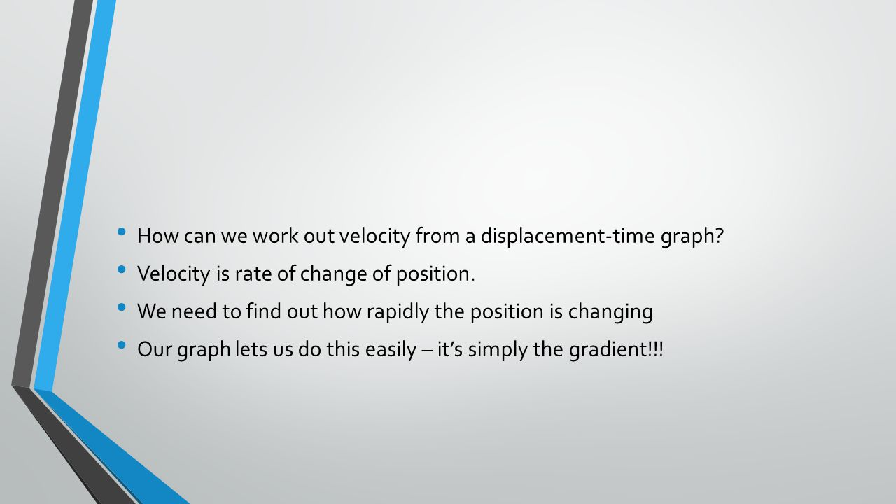 How can we work out velocity from a displacement-time graph.