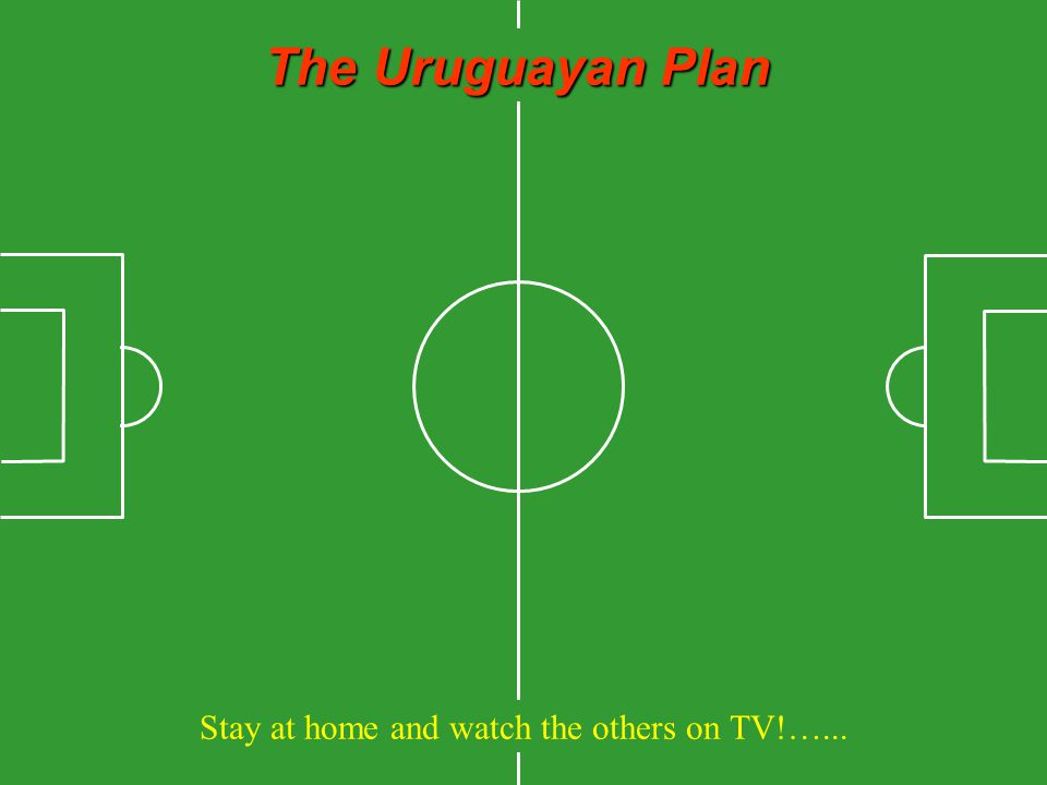 The Uruguayan Plan Stay at home and watch the others on TV!…...