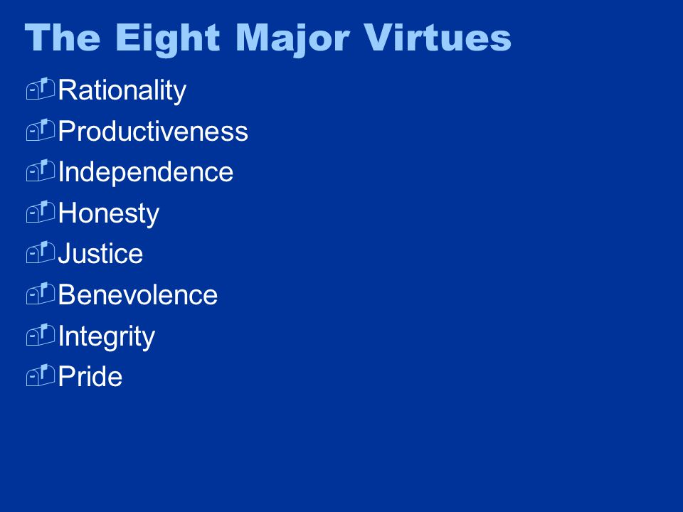 6: Benevolence  Benevolence is the commitment to treating other people as potential trading partners  Three aspects of benevolence: –Civility –Sensitivity –Generosity