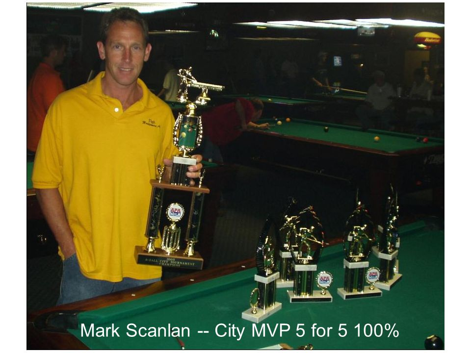 The following truisms may shed some light: Mark Scanlan -- City MVP 5 for 5 100%
